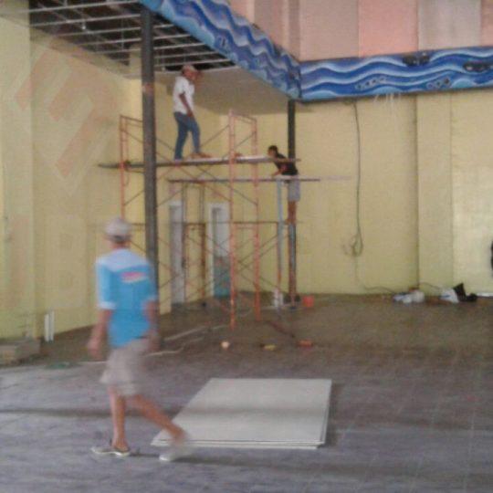Plafon Gypsum di Mainstreet Kenjeran Park Surabaya